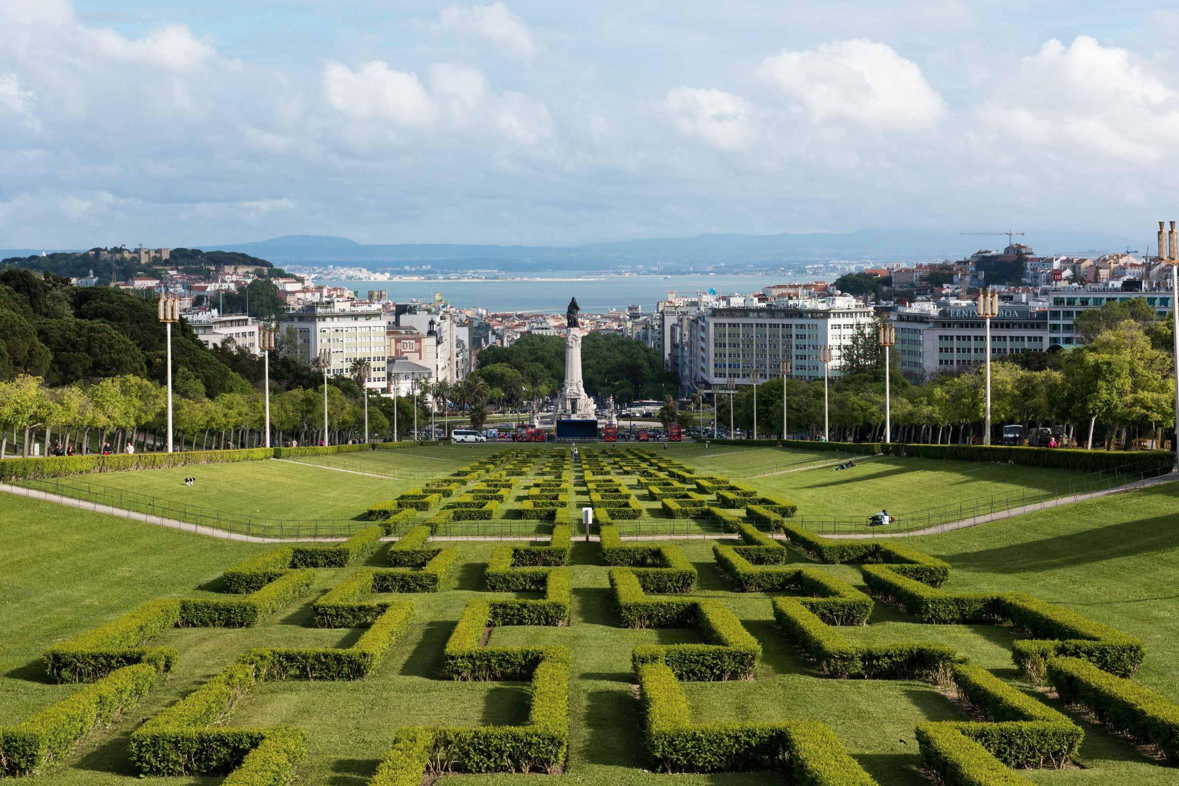 Mooie parken in Lissabon Parque Eduardo