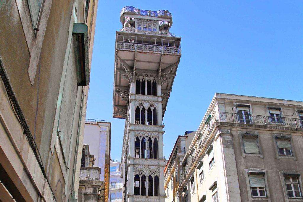 Santa Justa lift wat te doen in Lissabon bezienswaardigheden