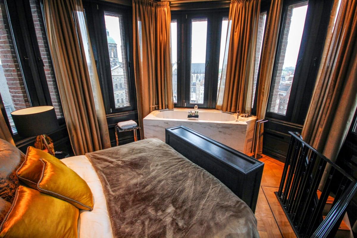 Hotel met uitzicht op de Dam in Amsterdam