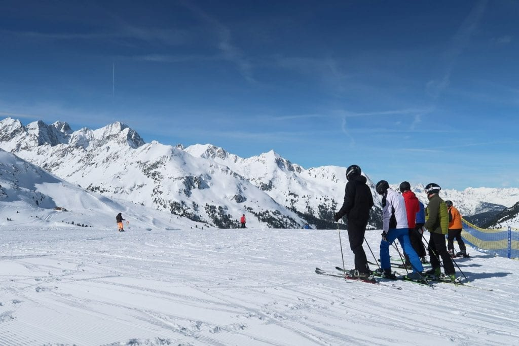De rode pistes in Kühtai