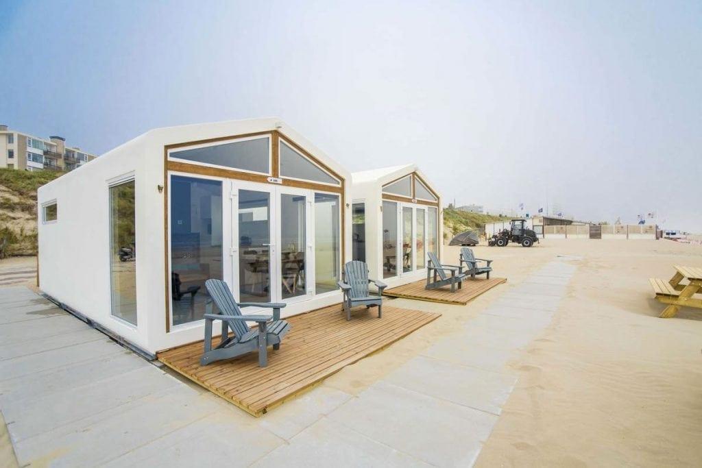 Vakantiehuisje op het strand in Zandvoort